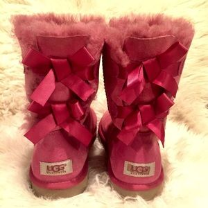 Pink Bow Tie UGG Boots